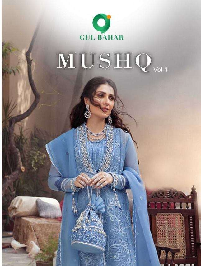 Gul Bahar Mushq Vol 1 Butterfly net With Embroidery Work Readymade Suits Collection