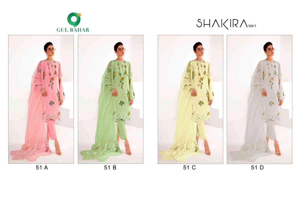GULBAHAR SHAKIRA VOL 1 READYMADE PAKISTANI SUIT AT WHOLESALE PRICE