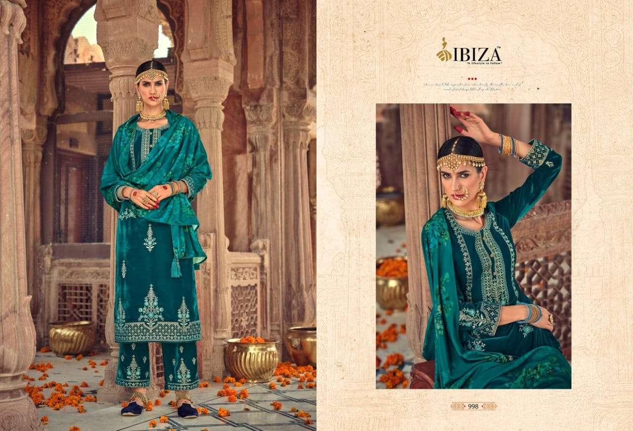 IBIZA AARUSHI VELVET DESIGNER SALWAR KAMEEZ DRESS MATERIALS
