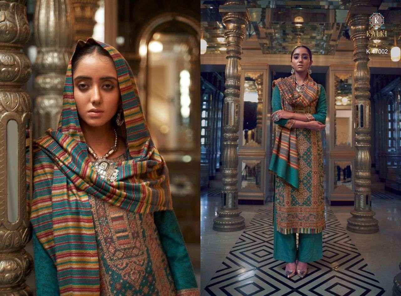 Kalki fashion Gulmohar Vol 4 Pashmina Handloom Jacquard Weaving salwar Suits Collection