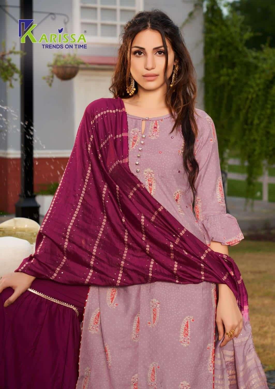 Karissa fashion velvet Banarasi Modal Silk With Hand Work Kurti With Bottom Dupatta Collection