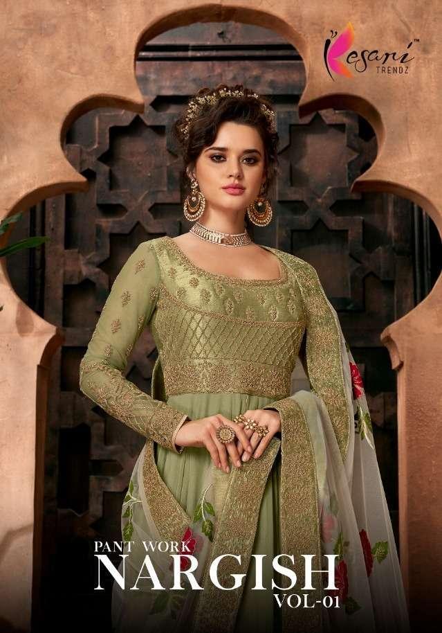 Kesari trendz nargish Vol 1 Georgette With Embroidery Work Salwar kameez collection