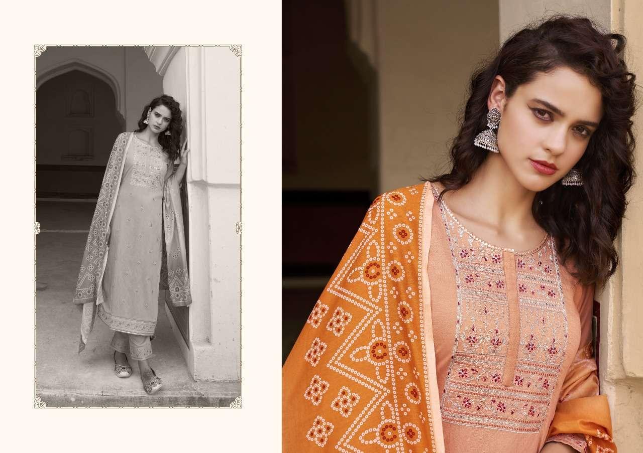 Kessi fabrics kajree kiwi Pihoo fancy Sequence Jari Work Kurti With pant Dupatta collection