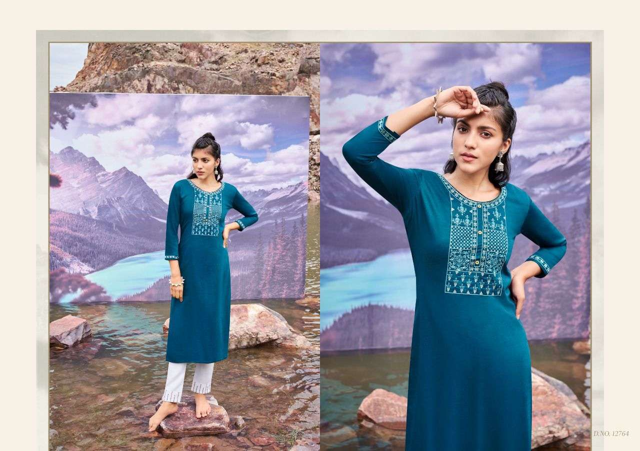 Kessi fabrics kalaroop Kites Vol 3 Fancy Silk With Sequence Embroidery Work Kurtis Collection