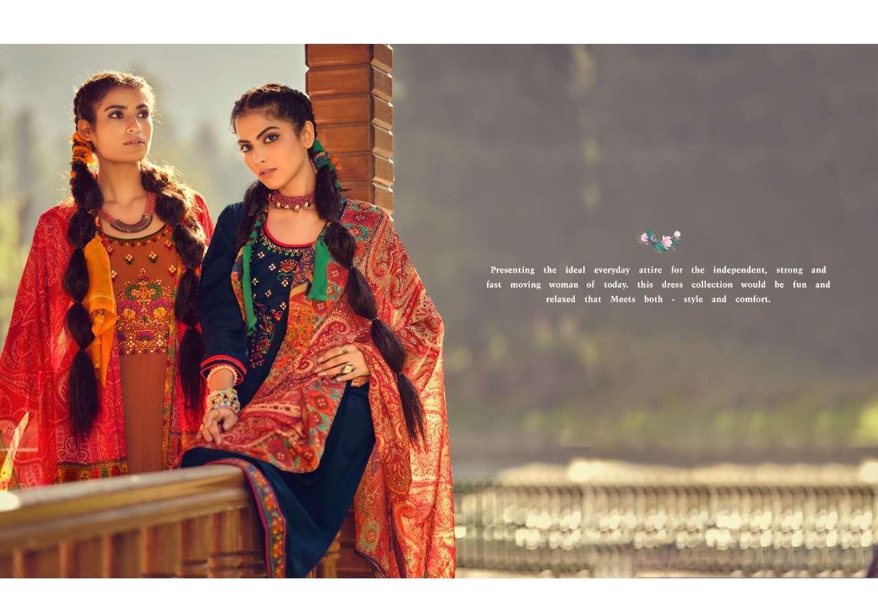 Kessi fabrics Panch Ratna Kalpana Silk With mirror Work Dress Material Collection