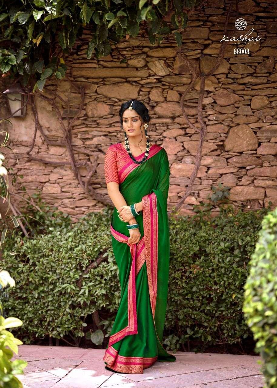 LT Fabrics Kashvi Avni Moss chiffon With Fancy lace Sarees Collection