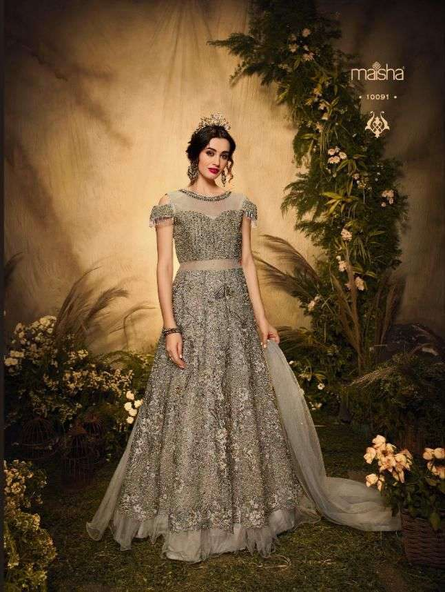 Maisha Aafreen Vol 3 Net With Embroidery Work Designer Salwar Kameez Collection