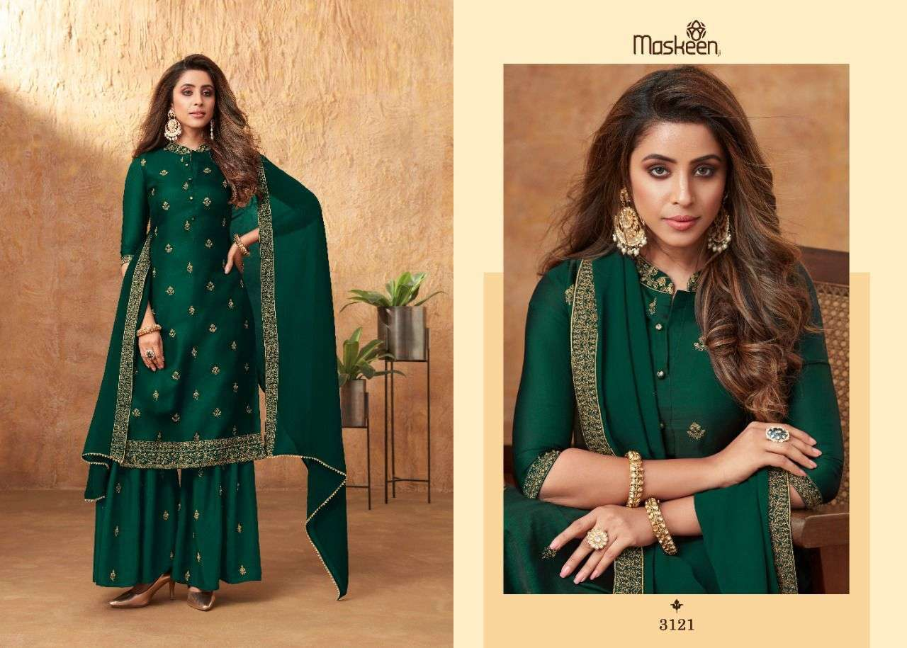 Maskeen Aamira Sik With Embroidery Work Readymade Salwar Suits Collection
