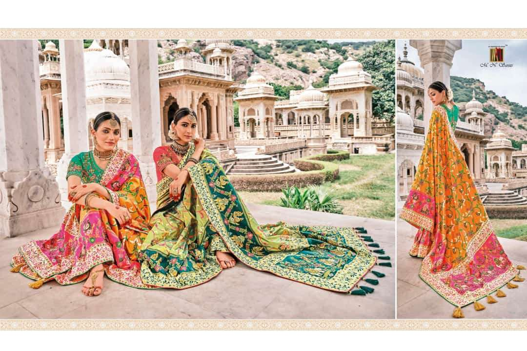 MN Raj Gharana 5801-5819 Series Patola silk Wedding Sarees collection