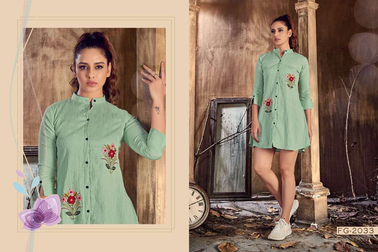 Mystic Vol 1 Italian Lycra With Work Western Tunic Collection
