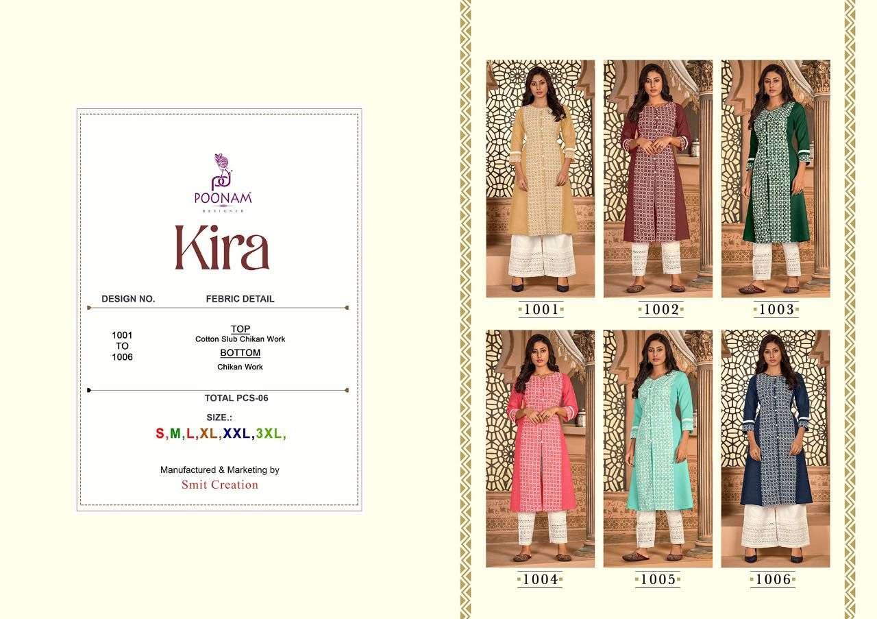 Poonam Kira Cotton Slub Kurti With Pant Collection