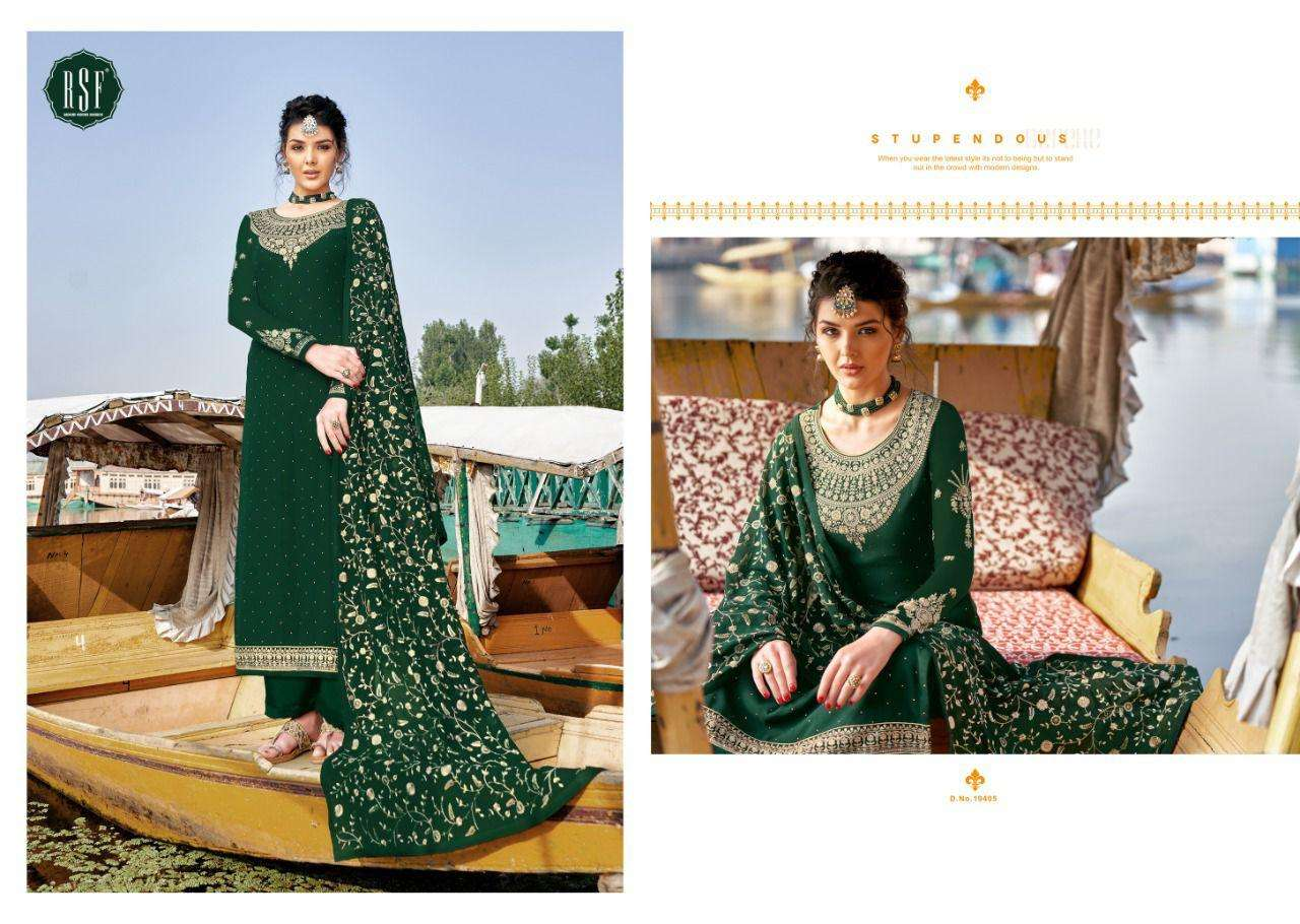 RSF Zariya Faux Georgette With Embroidery Work Dress material Collection