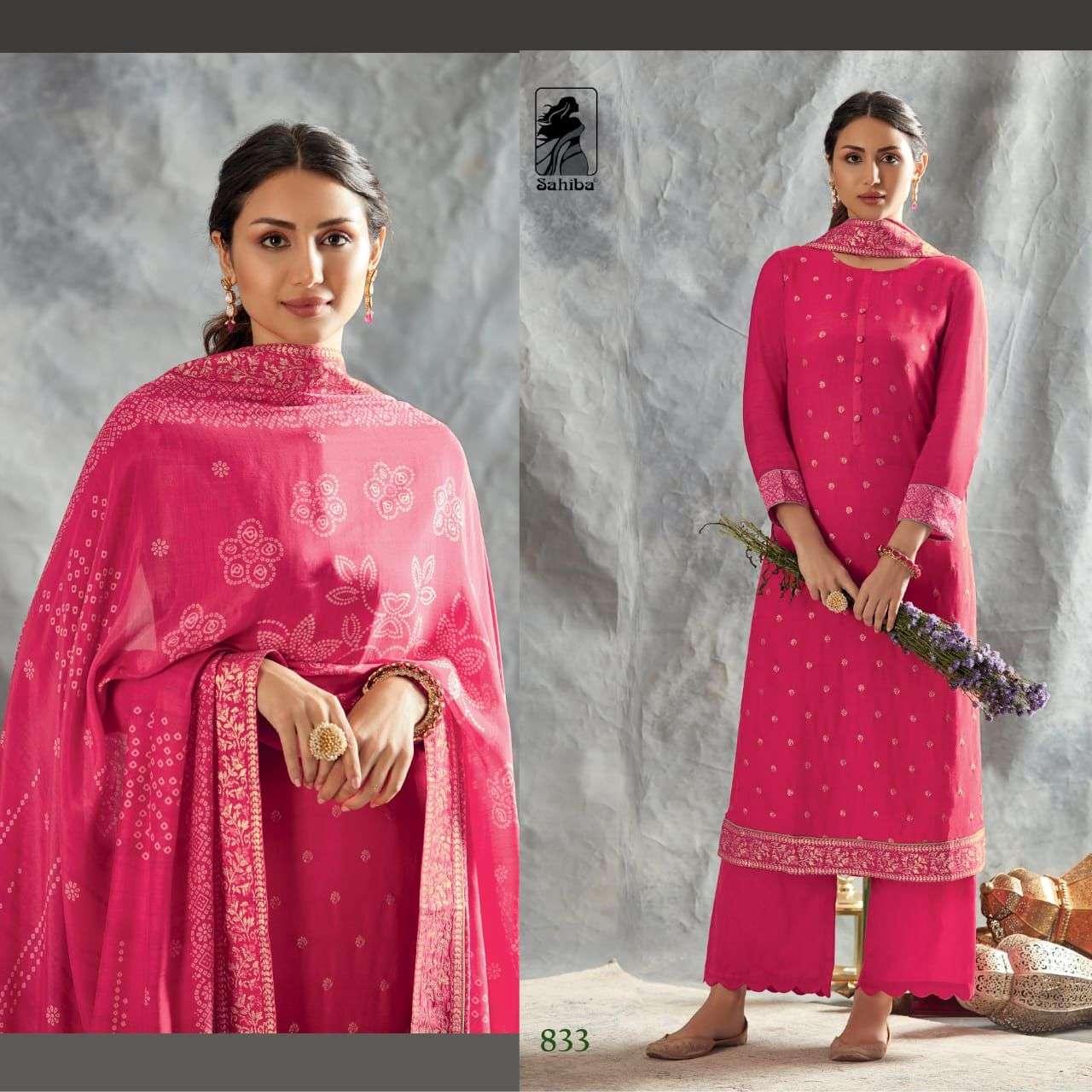 Sahiba Nikhat Silk Jacquard salwar Kameez Collection
