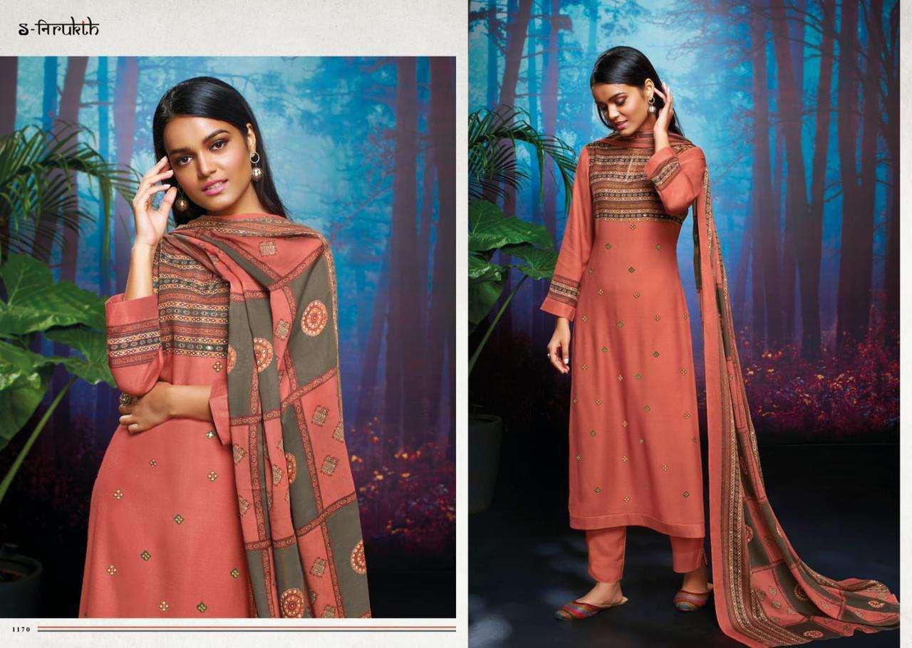 Sahiba Nirukth Parthvi Pashmina Print with mirror Work Winter Suits Collection