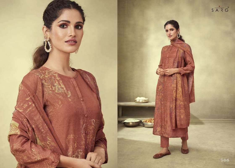 Sahiba Sarg Shikara Cashmiri Silk Digital Print With hand work Dress Material Collection
