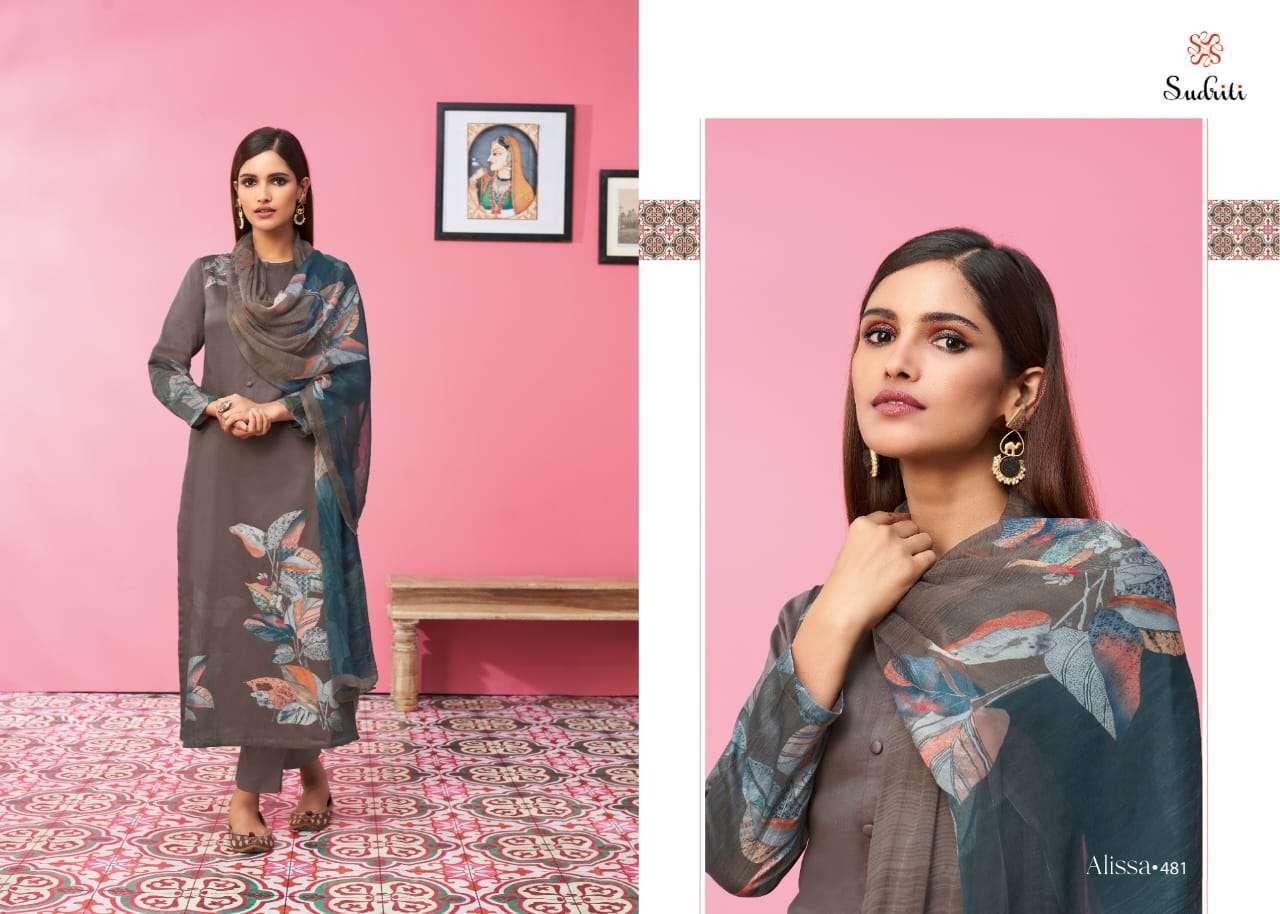Sahiba Sudriti alissa Cotton Satin digital print With Work Dress Material Collection