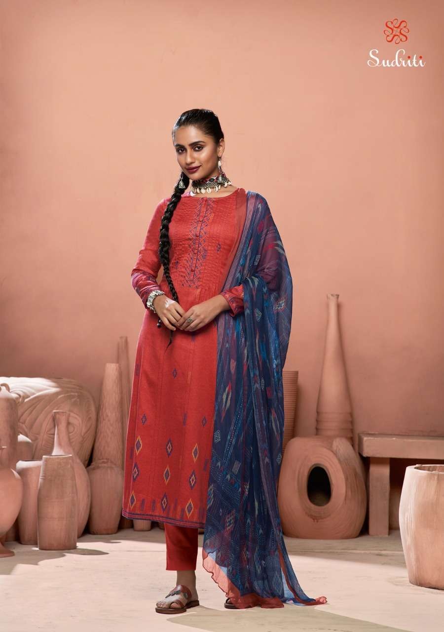 Sahiba Sudriti Oshima Cotton Digital Print With Embroidery Work Dress material Collection