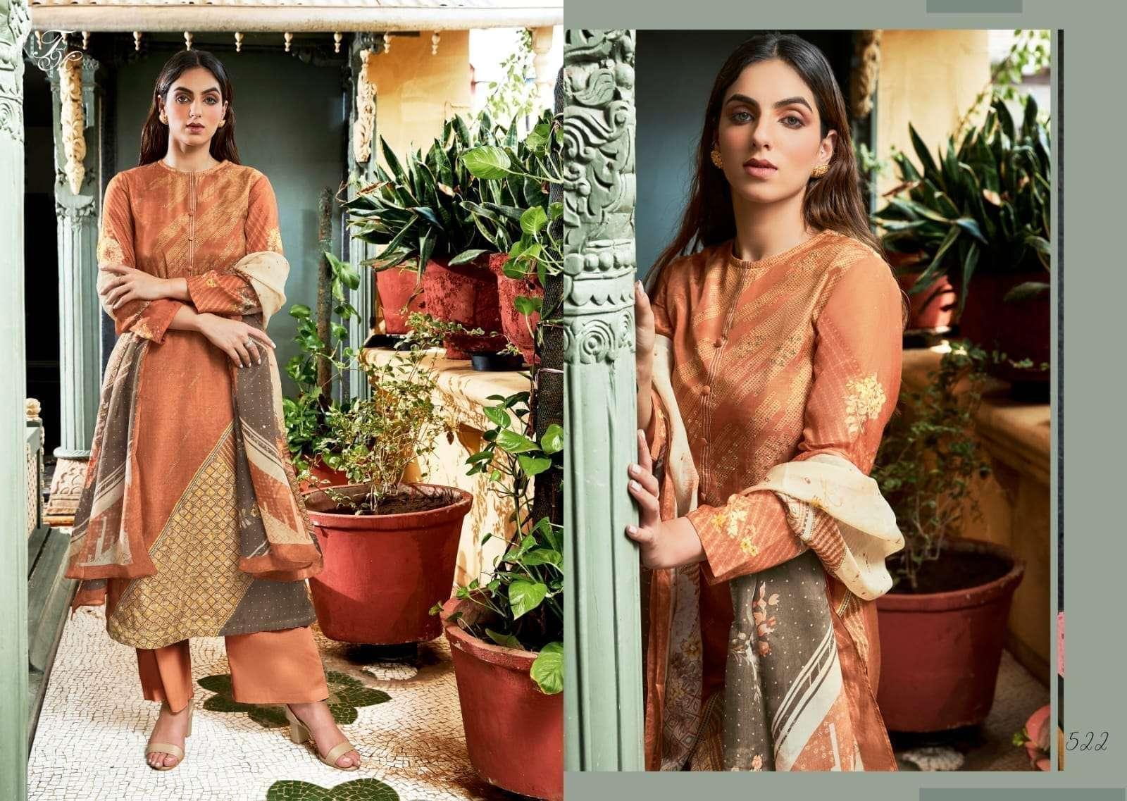 Sahiba T & M Sugandh silk Digital print With hand Work Dress Material Collection