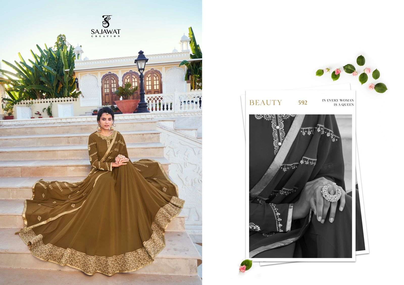 Sajawat Creation Mandora Vol 2 Heavy Georgette With Embroidery Work Readymade Suits Collection