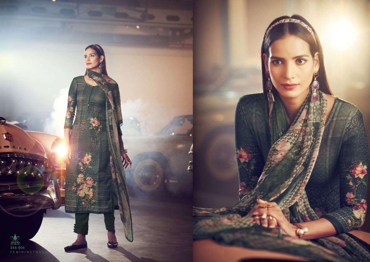 Sangam Prints Checkmate Pashmina Print With Foil Print Winter Suit Collection