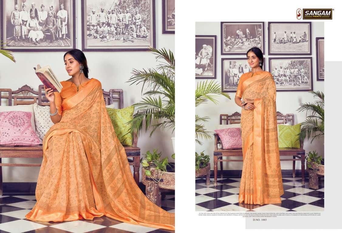 Sangam Prints Divyanka Cotton Sarees Collection 02