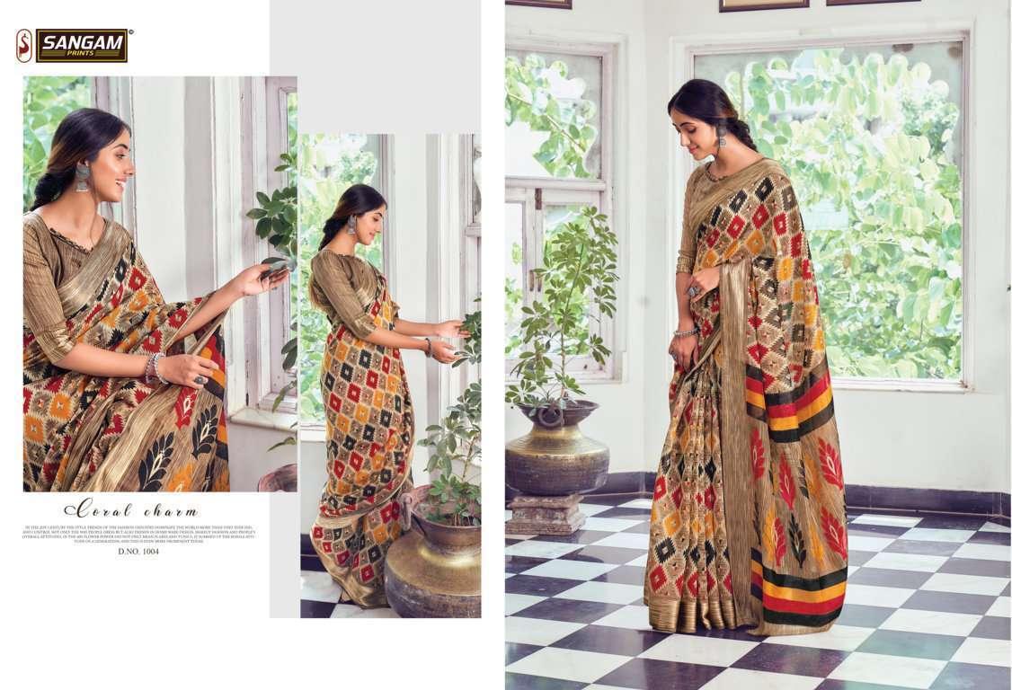 Sangam Prints Divyanka Cotton Sarees Collection 04