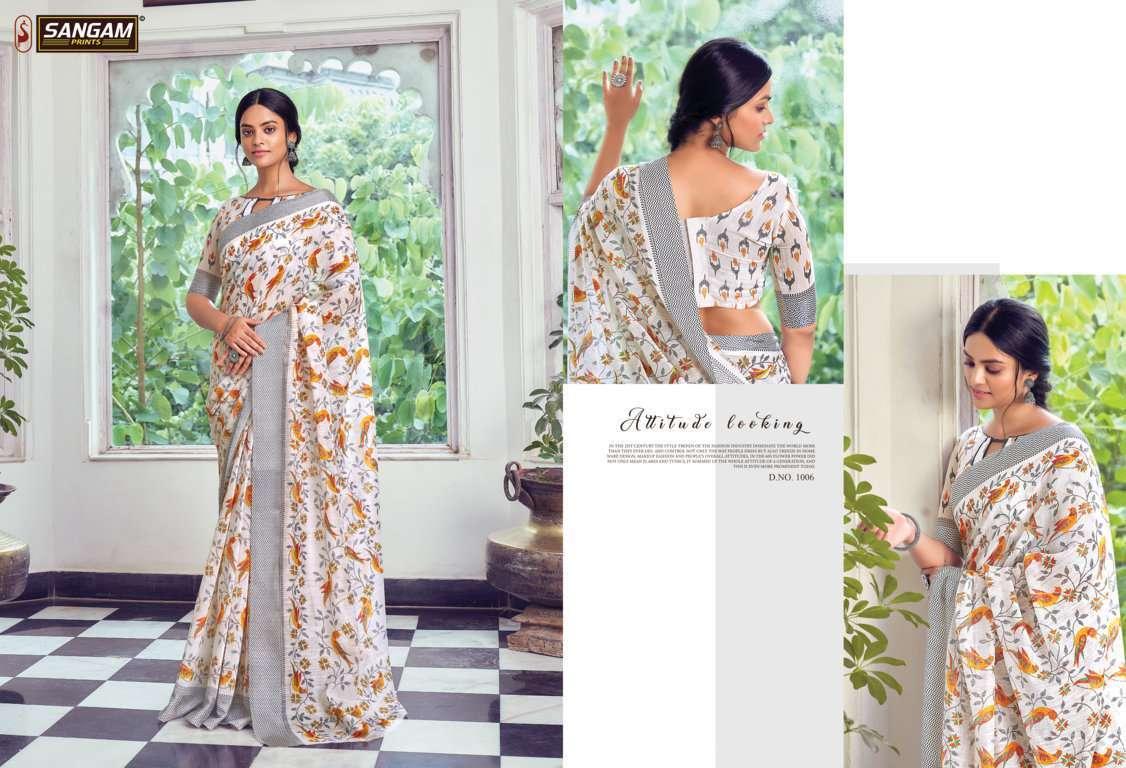 Sangam Prints Divyanka Cotton Sarees Collection 06