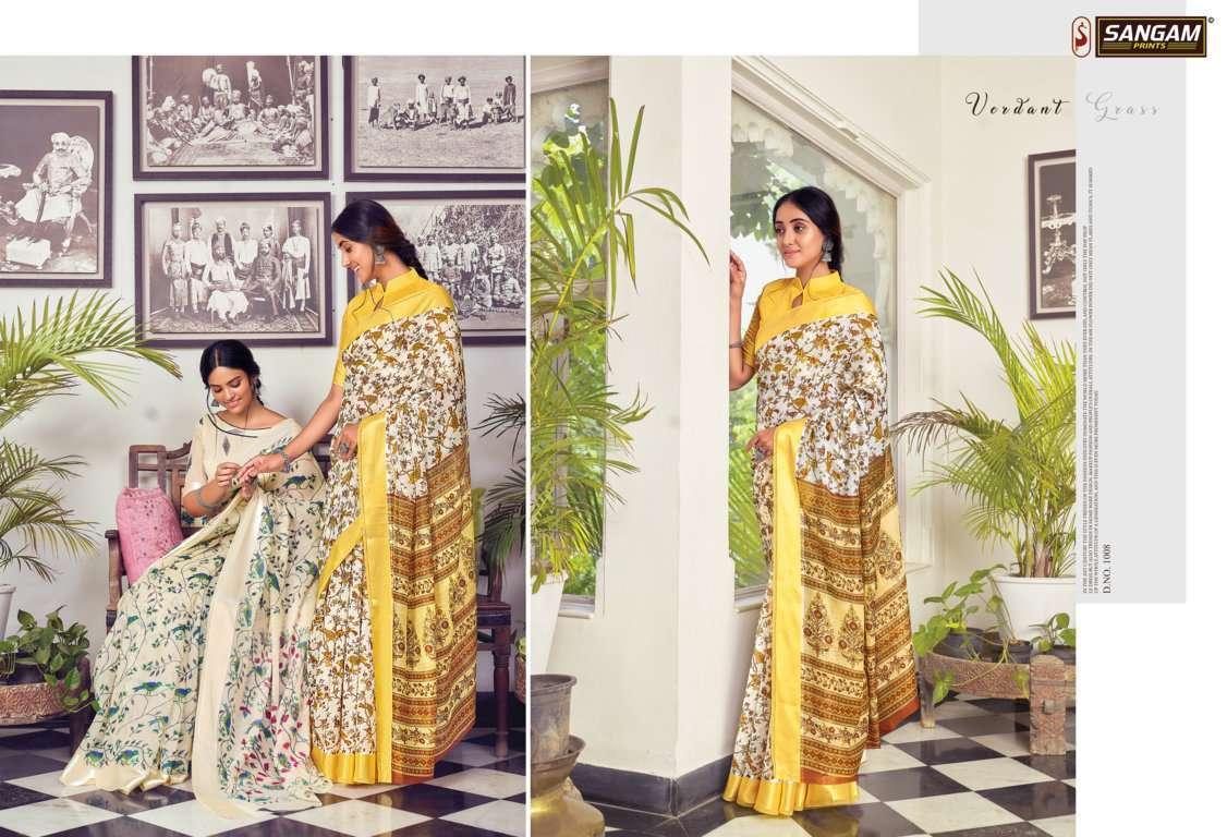 Sangam Prints Divyanka Cotton Sarees Collection 07