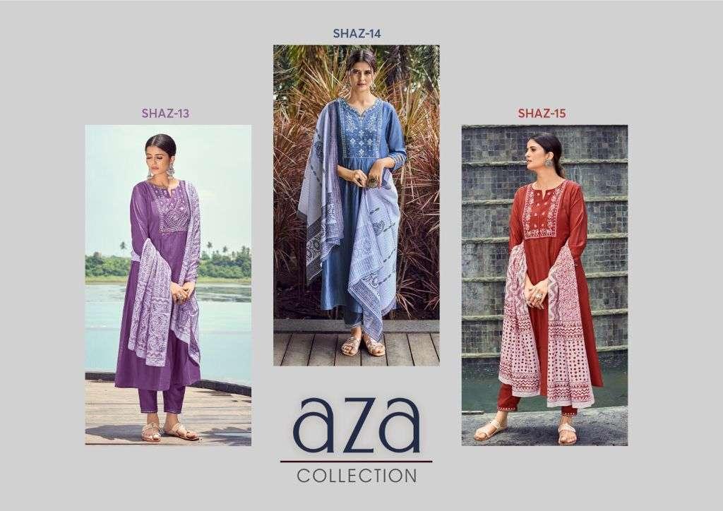 Shichi Aza Chinon With Multi thread Work Kurti With Bottom Dupatta Collection