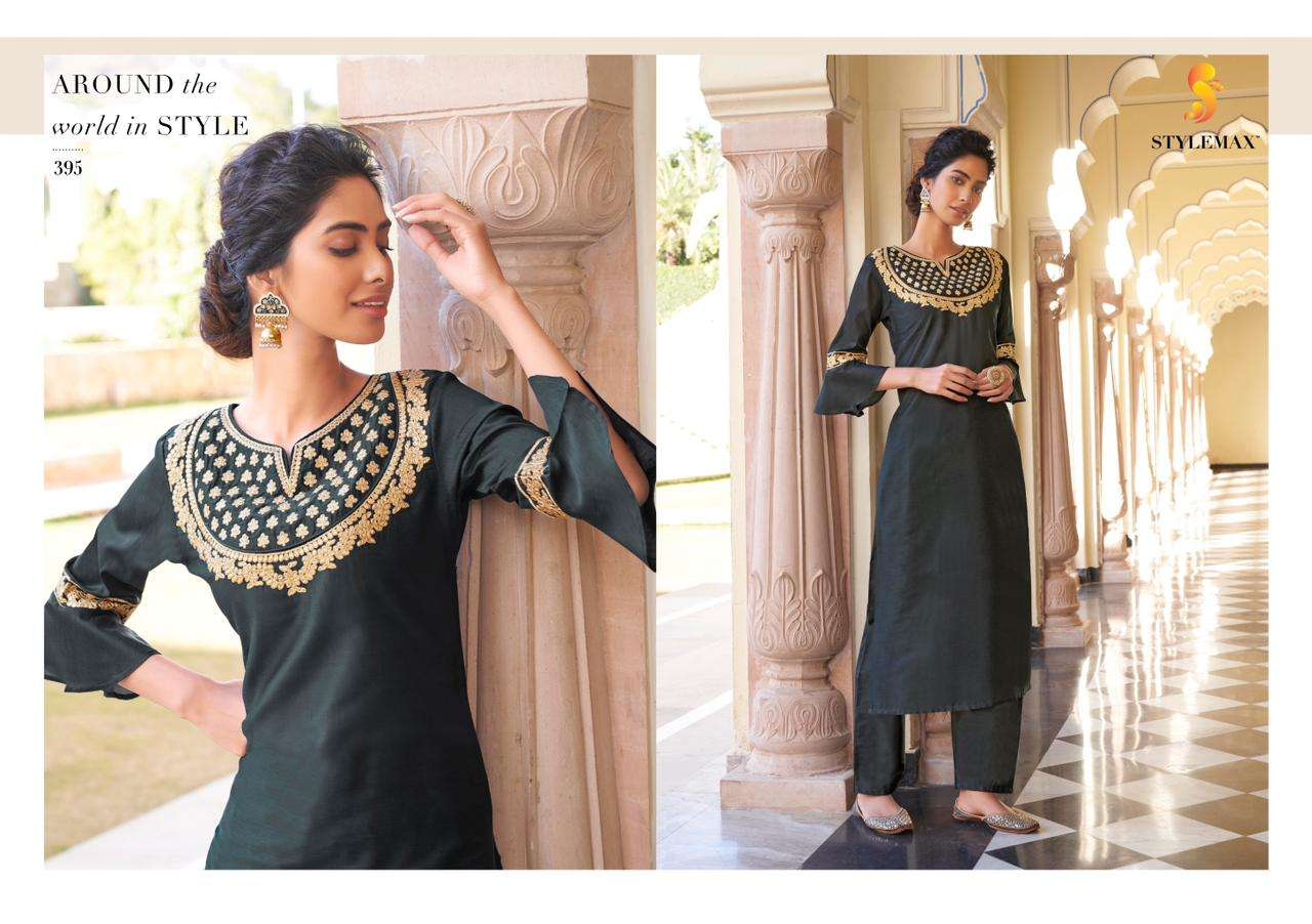 Stylemax Ameera Vol 1 Viscose With Embroidery Work Kurti With Bottom Kurtis Collection
