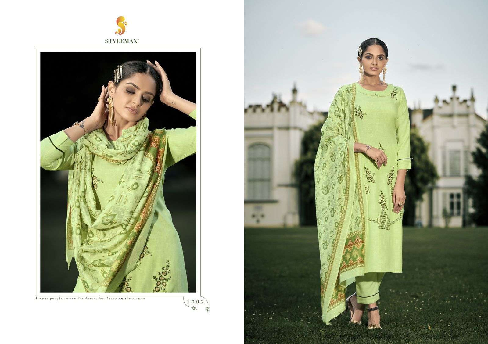 Stylemax Sajni Vol 1 Cotton With Embroidery Work readymade Suits collection