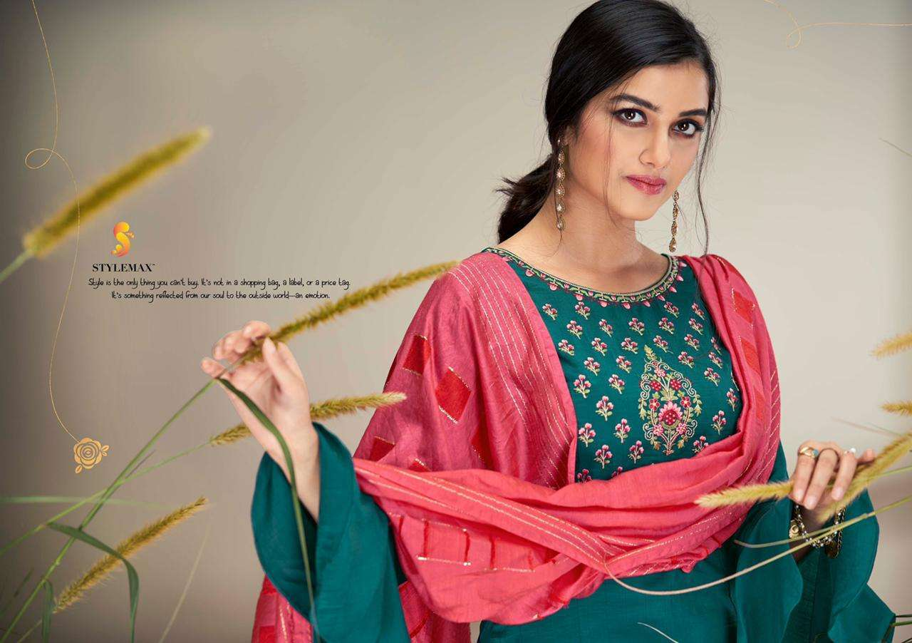 Stylemax Sayra Vol 1 Chinon Silk With Embroidery work Kurti With Bottom Dupatta Collection
