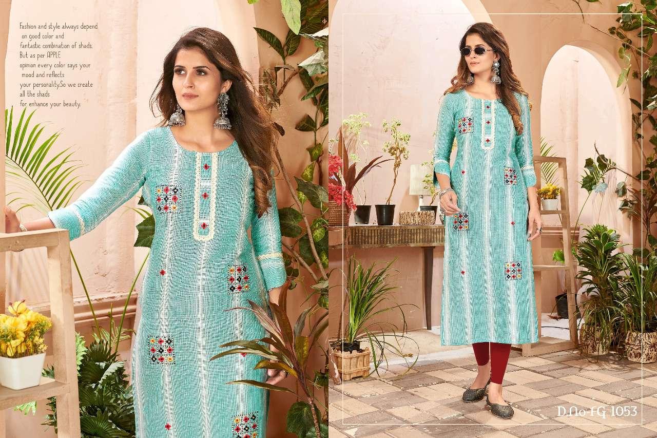 Sunshine Vol 1 Khadi Linen Weaving With Work Kurtis Collection