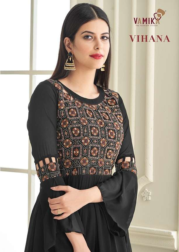 Vamika NX Vihana Georgette with embroidery Work readymade Gown Collection