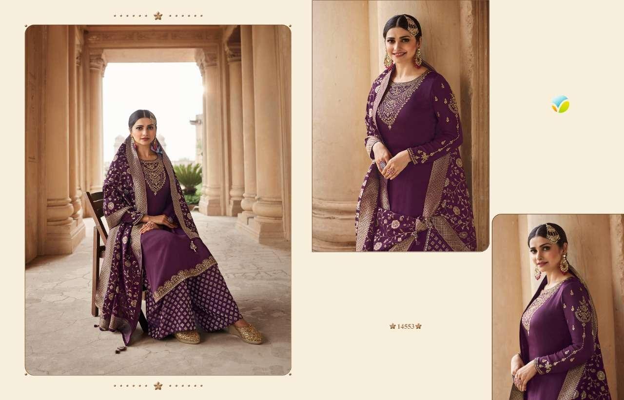 Vinay Fashion Kaseesh Benchmark Vol 2 barfi Silk With Embroidery Work Salwar Kameez Collection