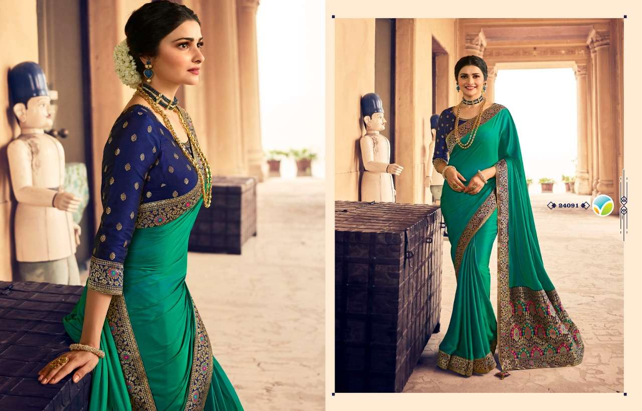 Vinay fashion Kaseesh Heritage Vol 4 Silk crepe Sarees collection