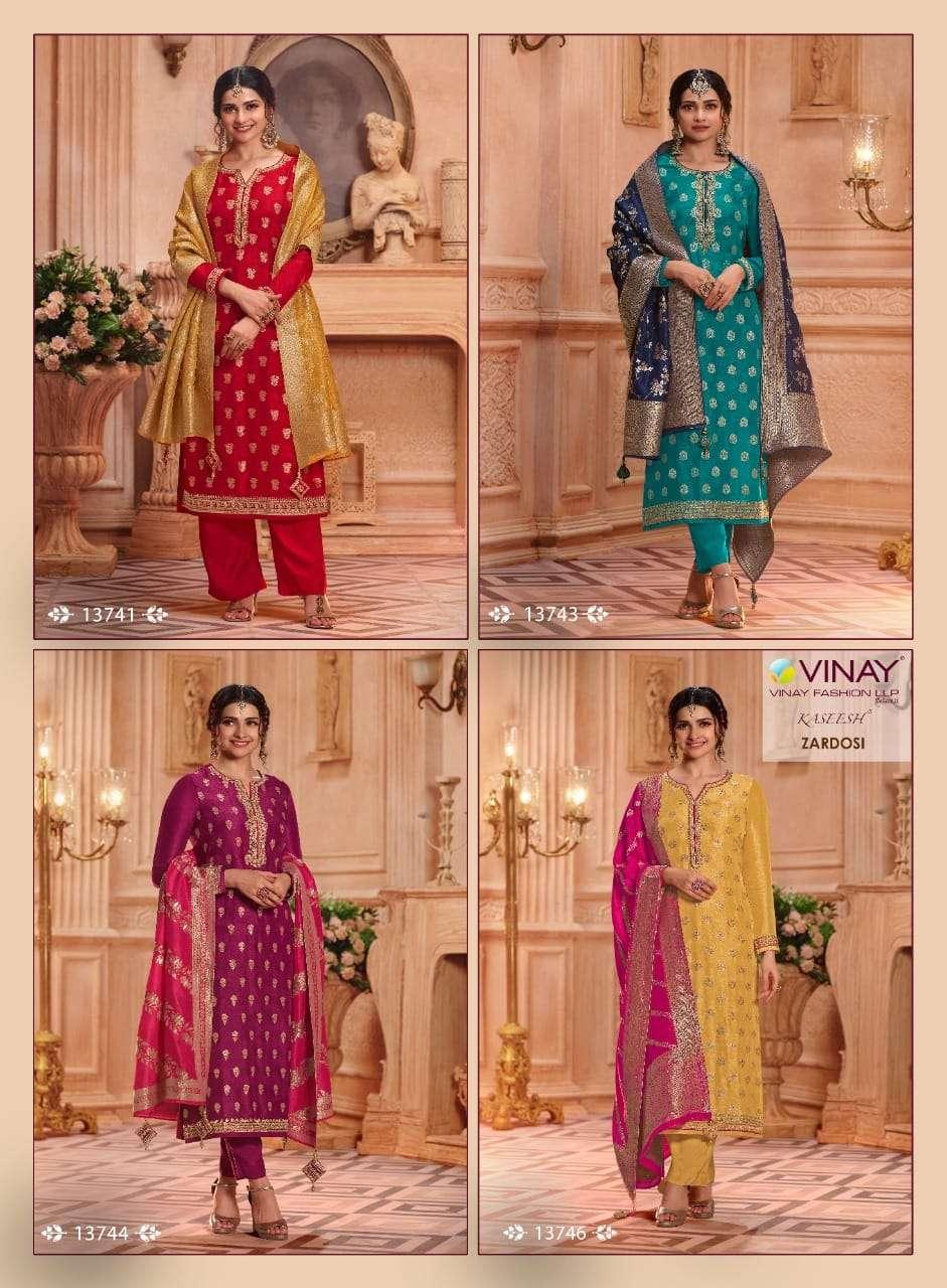 Vinay kasheesh zardosi hits latest designer vinay catalog