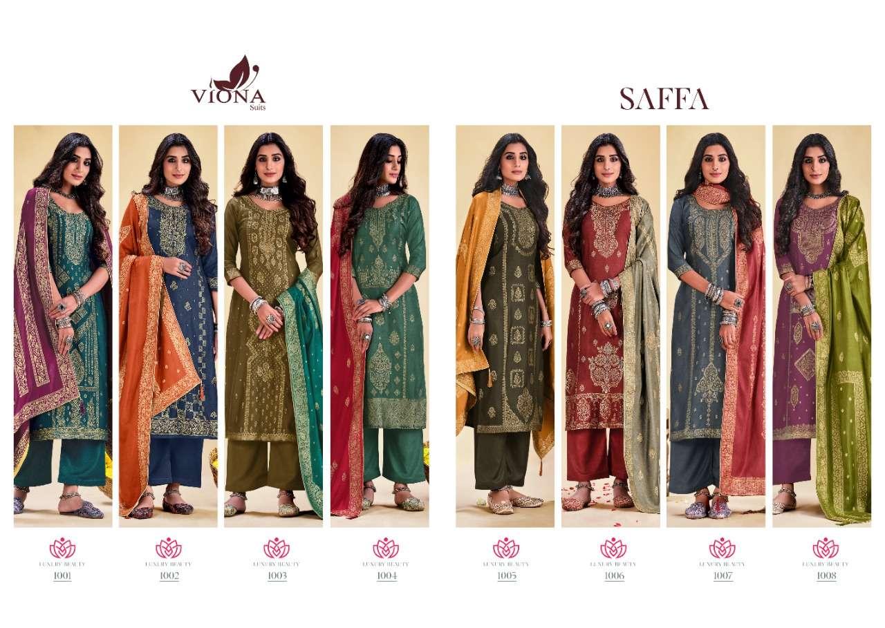 Viona Suits Saffa Wool Jacquard Winter Suits Collection