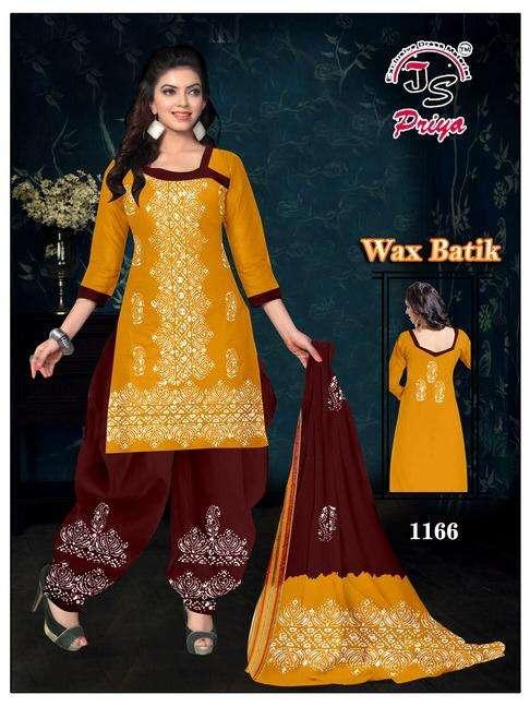 JS priya Wax Batik Cotton Dress Material Collection