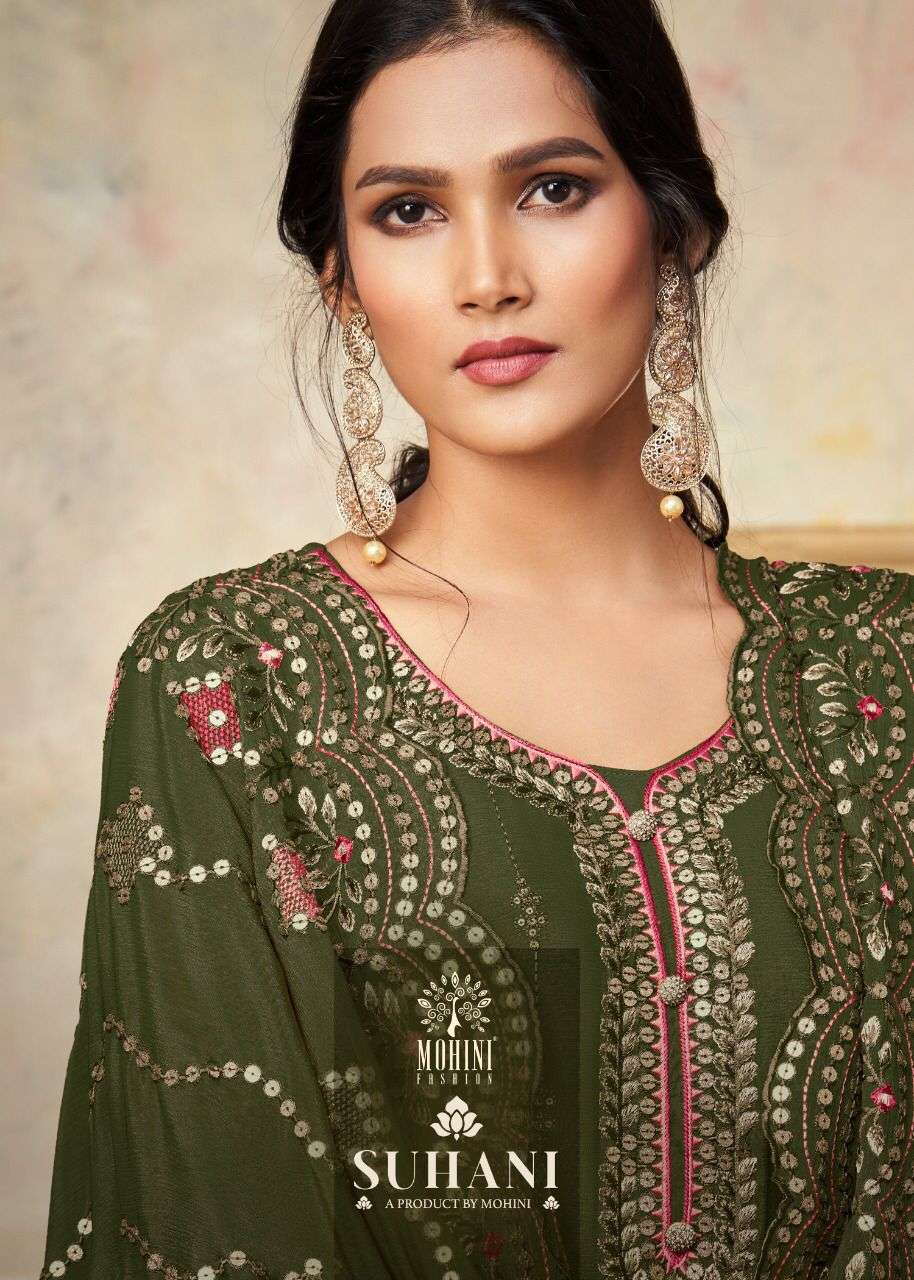 Mohini Fashion Suhani 701 Series Chinon With Embroidery Work Dress Material Collection