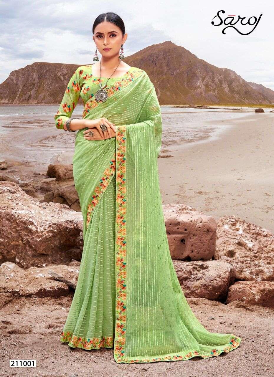 Saroj sparkal look georgette saree collection