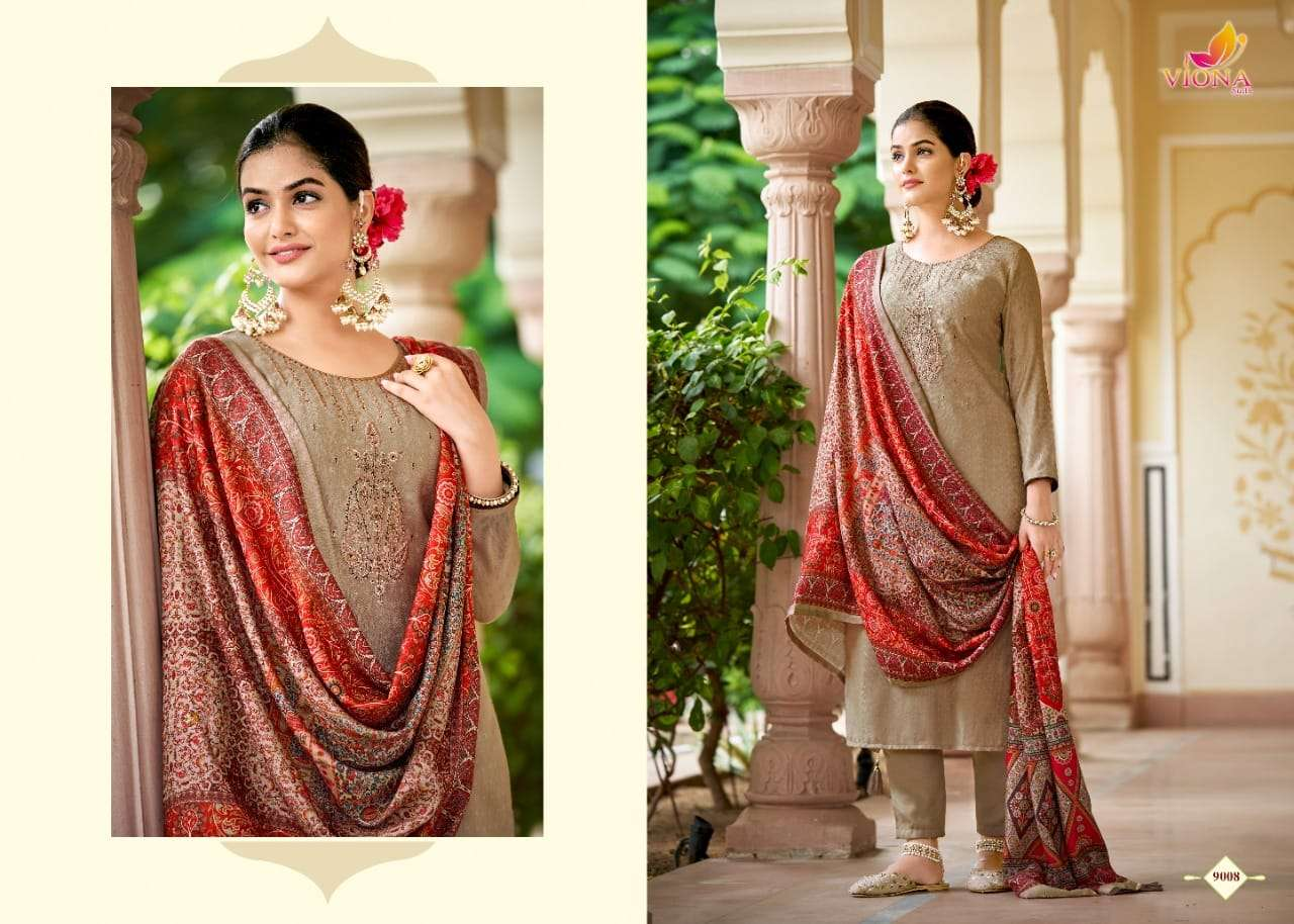 Viona Suits Bawari Woolen Pashmina With Embroidery work Suits Collection