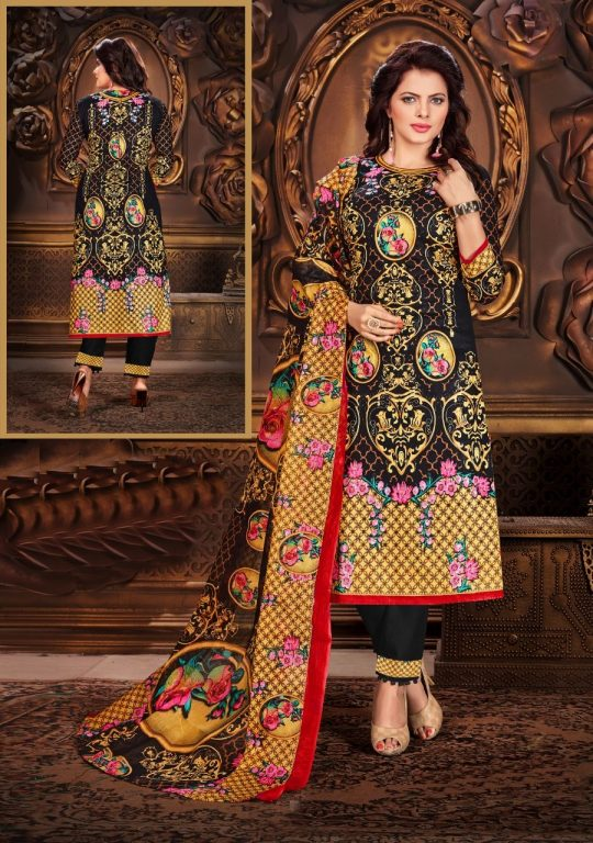 f24850f6d2 Naan Karachi cotton Vol 3 Dress by Kumkum | Ethnic Export