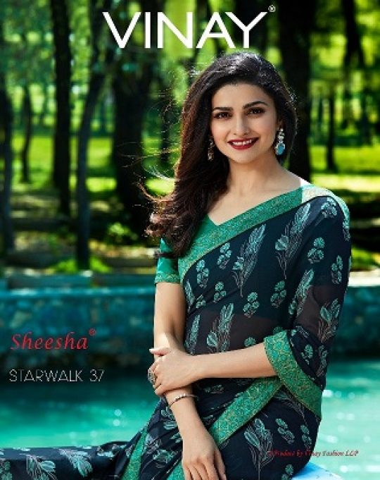 048ef00643 Sheesha Starwalk Vol 37 by Vinay Fashion Fancy Designer Floral Printed  Georgette Sarees Collection at Wholesale Rate