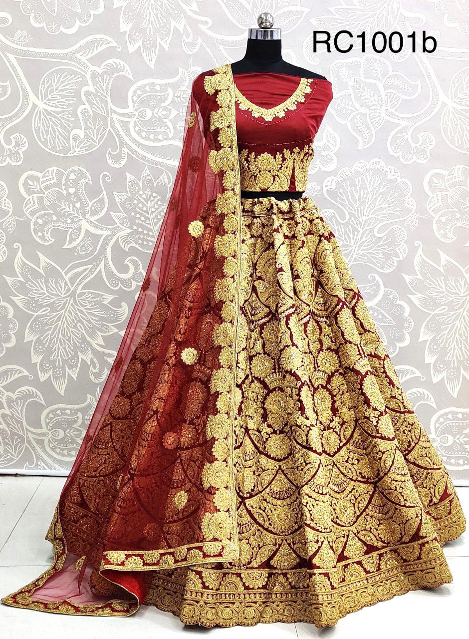 Weddings Special Latest Designer Satin Silk With Heavy Embroidery Work Lehenga Choli Collection At Wholesale Prices