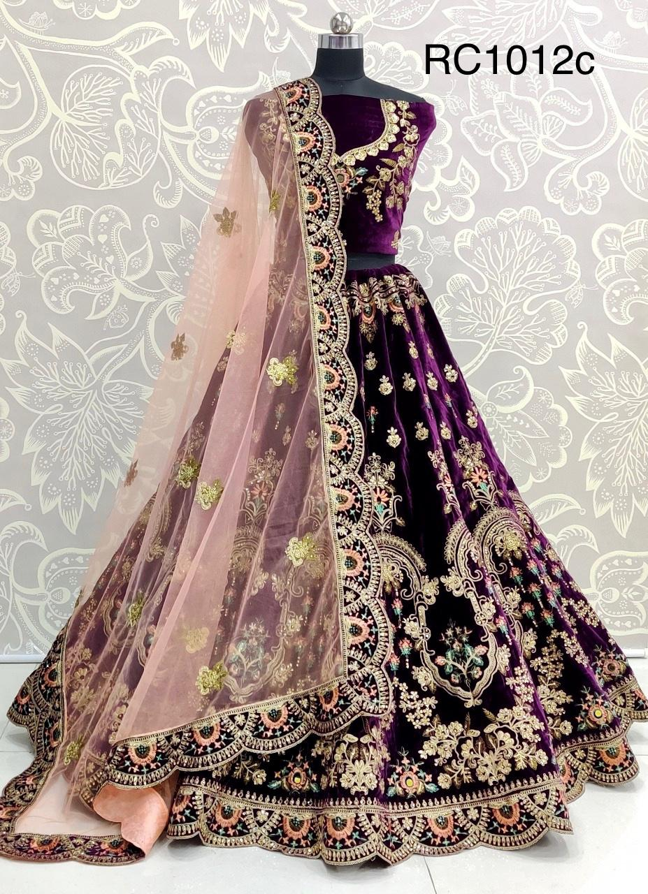 Latest Designer Heavy Velvet With Heavy Embroidery Work Bridal Wedding Collection At Wholesale Price