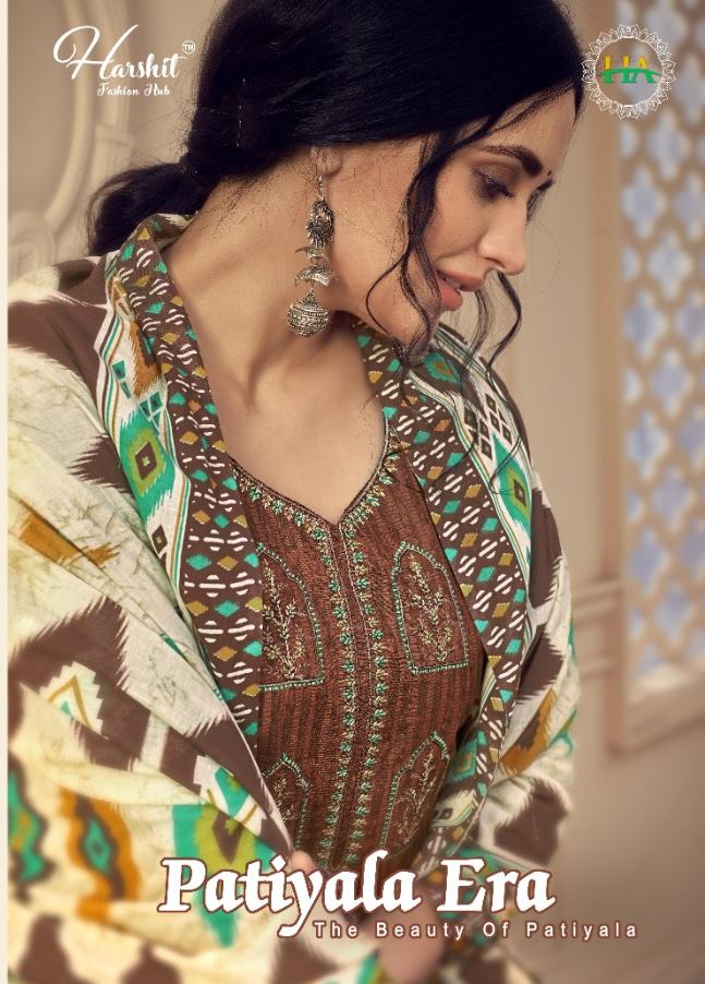 Alok Suits Harshit Fashion Patiyala Era Pure Cotton Print With Embroidery Work Dress Material Collection At Wholesale Rate