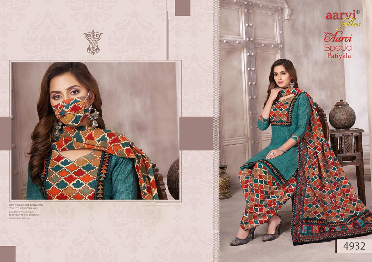 Aarvi Fashion Aarvi Special Patiyala Vol 14 Cotton Printed Regular Wear Dress Material At Wholesale Rate