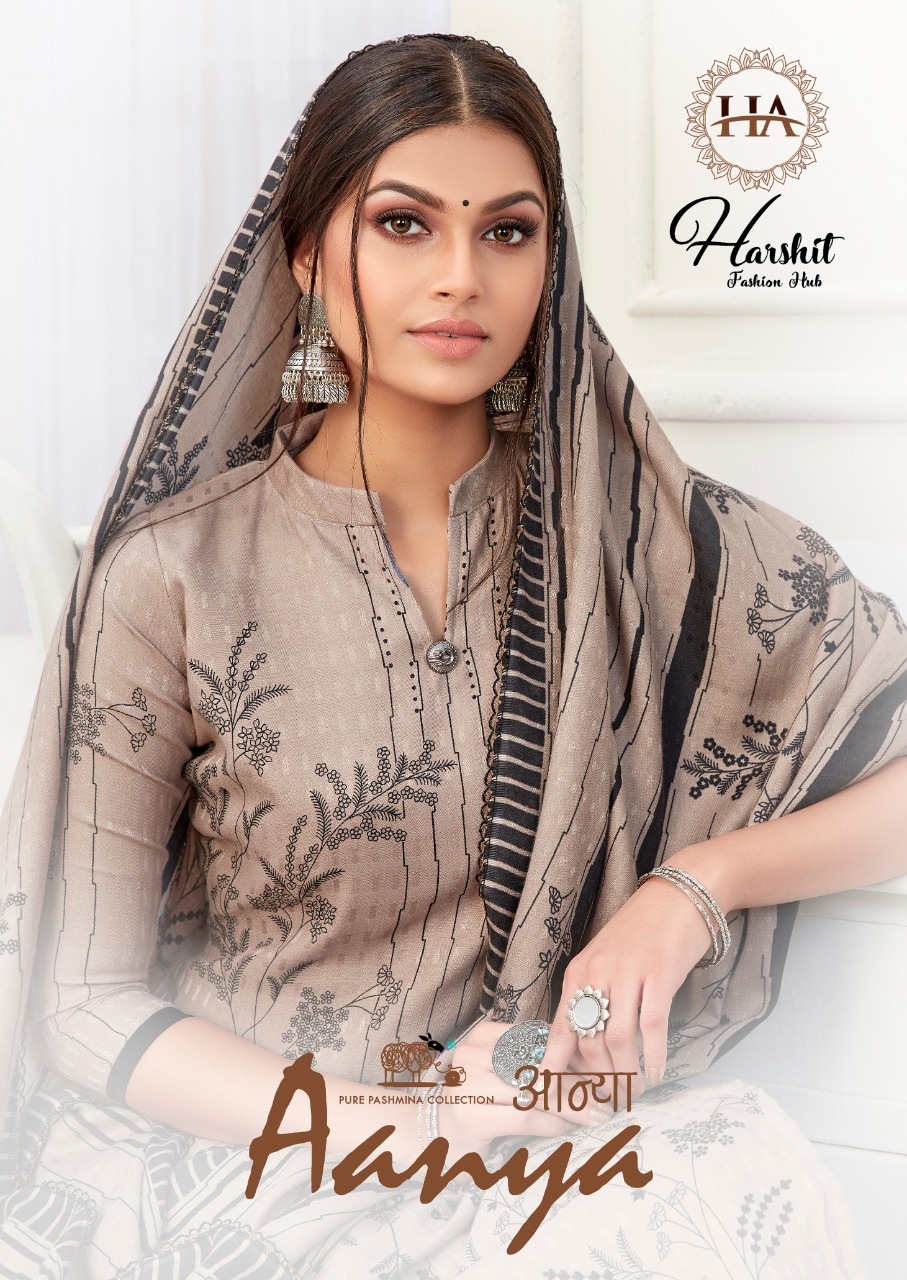 Alok Suits Harshit Fashion Aanya Pure Wool Pashmina Digital Style Print Dress Material Collection At Wholesale Rate