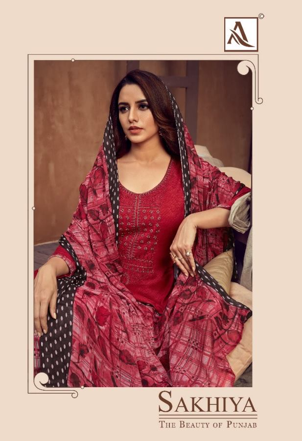 Alok Suits Sakhiya Pure Viscose Rayon Print With Embroidery Work Dress Material At Wholesale Rate